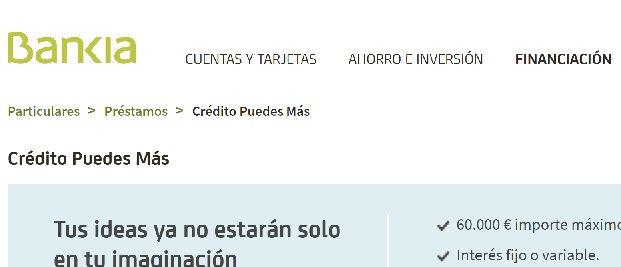 Préstamos rápidos Bankia