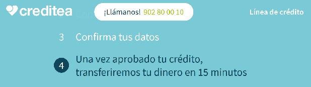 Creditea Línea Crédito rápido