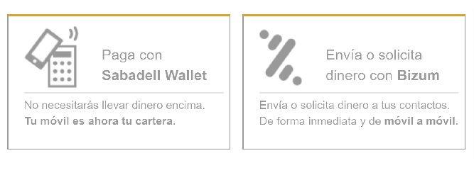 Sabadell Wallet App Movil